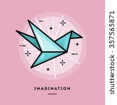 imagination  flat design thin... | Shutterstock .eps vector #357565871