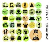 hotel vector icons set   Shutterstock .eps vector #357567461