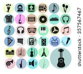 music set vector icons. musical ...   Shutterstock .eps vector #357567467