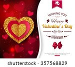 valentine's day background with ... | Shutterstock .eps vector #357568829