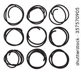 black highlight circle set ... | Shutterstock .eps vector #357570905