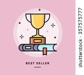 best seller book  flat design... | Shutterstock .eps vector #357575777
