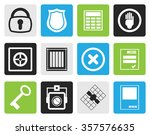 black simple security and... | Shutterstock .eps vector #357576635