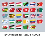 set of world flags. shop tag  | Shutterstock .eps vector #357576935