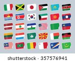 set of world flags. shop tag  | Shutterstock .eps vector #357576941