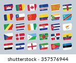set of world flags. shop tag  | Shutterstock .eps vector #357576944