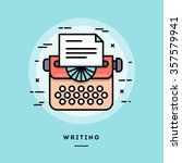 typing machine  flat design... | Shutterstock .eps vector #357579941