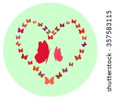 happy valentine's day. love... | Shutterstock .eps vector #357583115