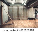 empty boxing area in the gym.... | Shutterstock . vector #357585431
