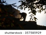 Small photo of Strong worker digger man working with pick moil equipment on natural background of chestnut tree branch heavy industry male job outdoor, horizontal picture