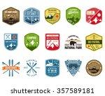 ski club  patrol labels.... | Shutterstock .eps vector #357589181