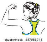 fitness woman illustration | Shutterstock .eps vector #357589745