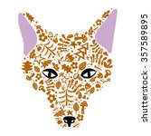 vector art fox illustrate color ... | Shutterstock .eps vector #357589895