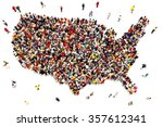 people coming to america... | Shutterstock . vector #357612341