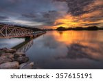 Beauty Sunset With Jetty At...