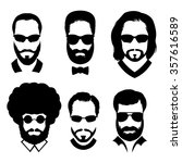silhouettes of men with beard... | Shutterstock .eps vector #357616589