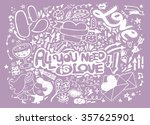 hand drawn vector illustration... | Shutterstock .eps vector #357625901