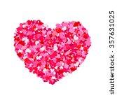 valentines heart. red heart... | Shutterstock .eps vector #357631025