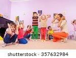 kids repeat after teacher... | Shutterstock . vector #357632984