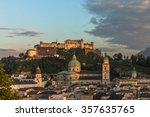 Salzburg City Skyline Old Town...