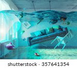 an underwater view in the... | Shutterstock . vector #357641354