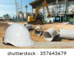 safety engineering and a helmet ... | Shutterstock . vector #357643679