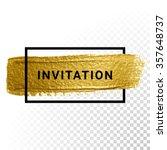 vector gold glitter background... | Shutterstock .eps vector #357648737