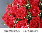 Stock photo pink red rose bouquet bouquet of fresh roses flower bright background 357653834