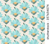 Gerber Daisy Flowers Seamless...