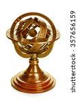 old vintage brass model of the... | Shutterstock . vector #357656159