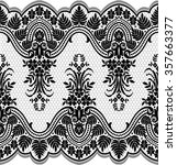 seamless lace pattern  flower... | Shutterstock .eps vector #357663377