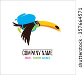 toucan. toucan flying on... | Shutterstock .eps vector #357664571