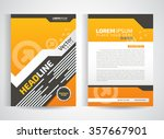 abstract vector modern flyers... | Shutterstock .eps vector #357667901
