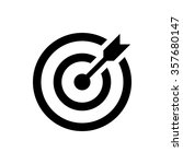 target icon. successful shot in ... | Shutterstock . vector #357680147