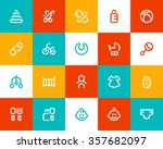 new born and baby icons. flat... | Shutterstock .eps vector #357682097