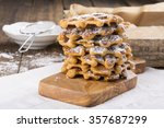 Stack Of Sweet Potato Waffles