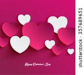 heart shape valentine's day...   Shutterstock .eps vector #357689651