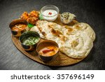 typical indian curry set | Shutterstock . vector #357696149