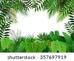 jungle on white background... | Shutterstock .eps vector #357697919