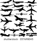 airplane collection 3   vector | Shutterstock .eps vector #357698045