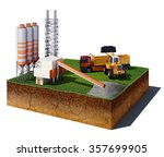 3d illustration of soil cutaway.... | Shutterstock . vector #357699905