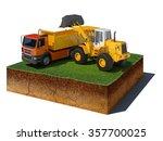 3d illustration of soil cutaway....   Shutterstock . vector #357700025