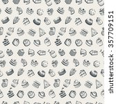 seamless background with cakes... | Shutterstock .eps vector #357709151