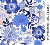 seamless floral background.... | Shutterstock .eps vector #357713351