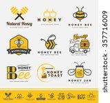 set of abstract honey bee logo... | Shutterstock .eps vector #357716009