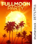 big orange moon vector fullmoon ... | Shutterstock .eps vector #357717911