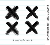 Vector Hand Painted X Marks....