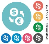 flat dollar euro exchange icon...