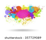 multi color blots background.... | Shutterstock .eps vector #357729089