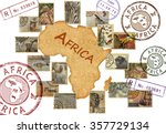 Postage Stamps With Africa...